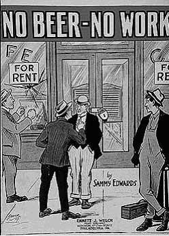"""На фото карикатура времен """"сухого закона"""" в США"""