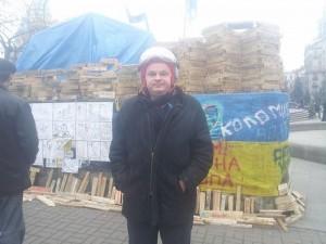 На фото Вадим Гладчук на Євромайдані